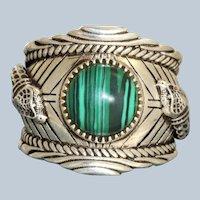 Estate Retired Sterling Gucci Garden Snake Ring