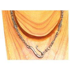 Estate Nickel Silver Fancy Watch Chain or Choker