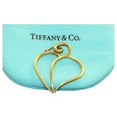 Estate 18K 1980's Tiffany Paloma Picasso Open Heart Pendant