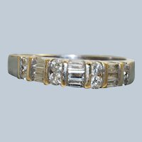 Estate 18KW 0.50 CTW Half Eternity Band