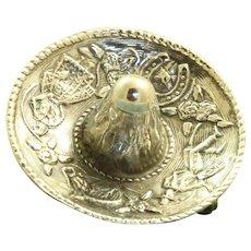 Sterling Eagle 1 Pineda Sombrero Brooch