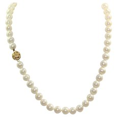 "Estate 14K 18"" Fresh Water Pearl Necklace"