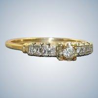 Estate 14K/Platinum 0.28 CTW Diamond Ring