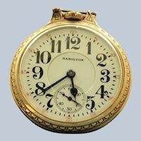 Hamilton 21J Rail Road Gold Filled Pocket Watch - 1953