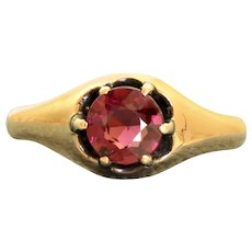 Estate 14K 1CT Raspberry Tourmaline in a Belcher Setting