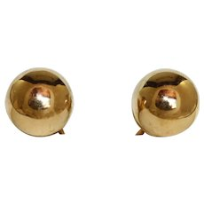 Estate 14K Gold Ball Studs