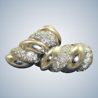 18KW Diamond Shrimp Huggie Earrings