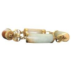 Estate 14K Jade Bracelet