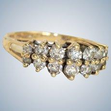 Estate 14K 0.50 CTW Pyramid Diamond Ring