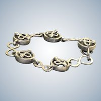 Estate Sterling Handmade Detailed Bracelet
