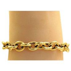 Estate 14K Chunky Bracelet, Italy