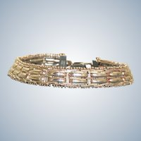 Estate Sterling Gate Bracelet, Italy
