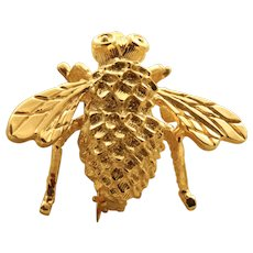 Estate 14K Fortunoff Bee Pin