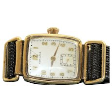 Estate Hamilton Rectangle 10K Gold Filled Watch