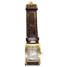 Estate Art Deco Curved 10K Rolled Gold Bulova Watch