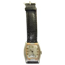 Estate Deco Rectangular Stainless Benrus Watch