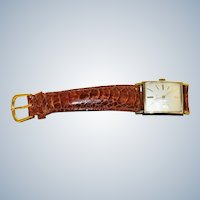 Estate 1950's Elgin 10K Rolled Gold Rectangular Watch