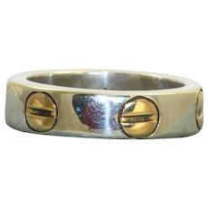 Estate 18K/Sterling Love Ring