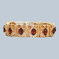 Estate 14K Mozambique Garnet Bracelet