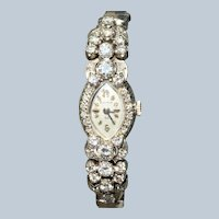 Estate 14KW Bulova 1.69 CTW Diamonds Ladies Watch