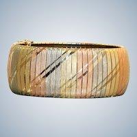 Estate 14K Tri Colored Italian Bracelet