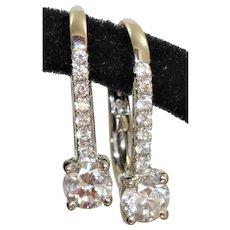 Estate 14KW 0.57 CTW Diamond Earrings
