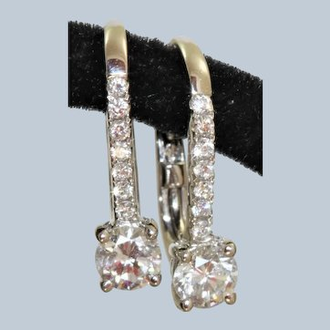 Estate 14KW 0.57 CTW Diamond Earrings