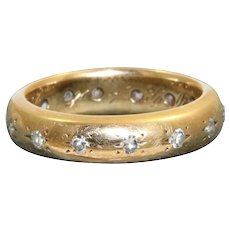 Estate 14K Etiole Diamond Wedding Band