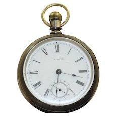 1885 Waltham Working Man's Pocket Watch
