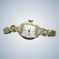 Estate 10K RG Bulova 17 Jewel Ladies Watch