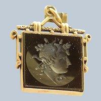 10K Pink Gold Victorian Carnelian Intaglio Pendant/Fob