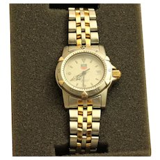 Estate Two Tone Tag Heuer Woman's Water Resistant Watch