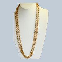 "14K Victorian 60"" Textured Rolo Chain"