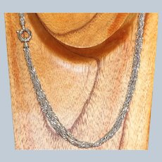 Estate 14KW Bright Cut Twisted Rope 5 Strand Necklace