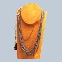 Estate Natural Hand Tied Tanzanite Necklace