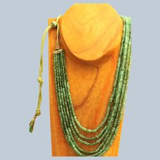 """Estate 30"""" Natural Untreated Emerald Necklace"""