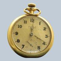 1892 Ingersoll 14K Gold Filled Running Pocket Watch