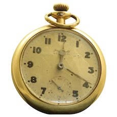 1892 Ingersoll 14K Gold Filled Running Pocket Watch