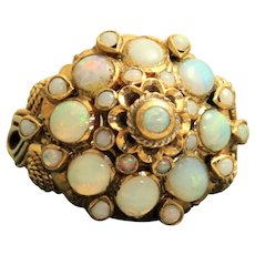 Estate 18K Opal Harem Ring