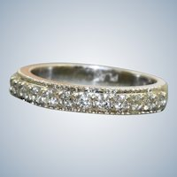 Estate Platinum and 0.45 CTW Diamond Half Eternity Band