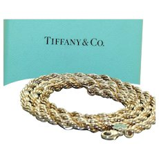Estate Tiffany 18K/Sterling  Twisted Rope Necklace
