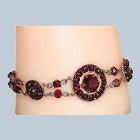 Vintage Faux Garnet Bracelet