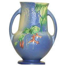Estate 1938 Roseville Fuchsia Double-Handed Vase