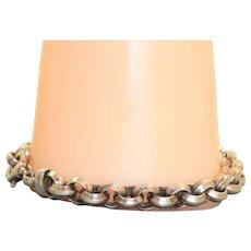 Estate Sterling Unisex Rolo Bracelet Italy