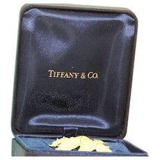 Estate Retired 18K Tiffany Oak Leaf Brooch