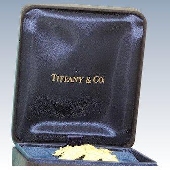 Estate Retired 18 K Tiffany Oak Leaf Brooch