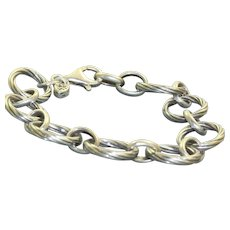 Estate Sterling Chunky Link Bracelet