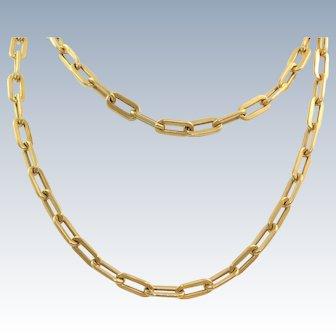 """Estate 30"""" 14 K  Long Chain Necklace"""