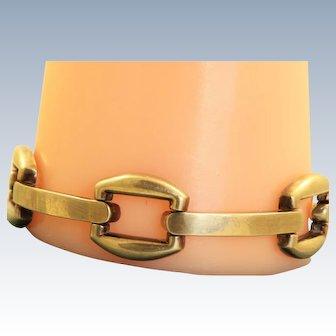 Estate 14 K Burnished Gold Bracelet - Italy
