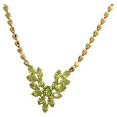 Estate 14 K 8.50 CT Peridot Necklace